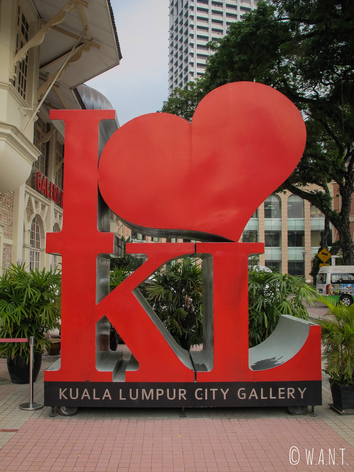 Symbole de Kuala Lumpur, installé devant le KL City Gallery, le plus photographié de la ville