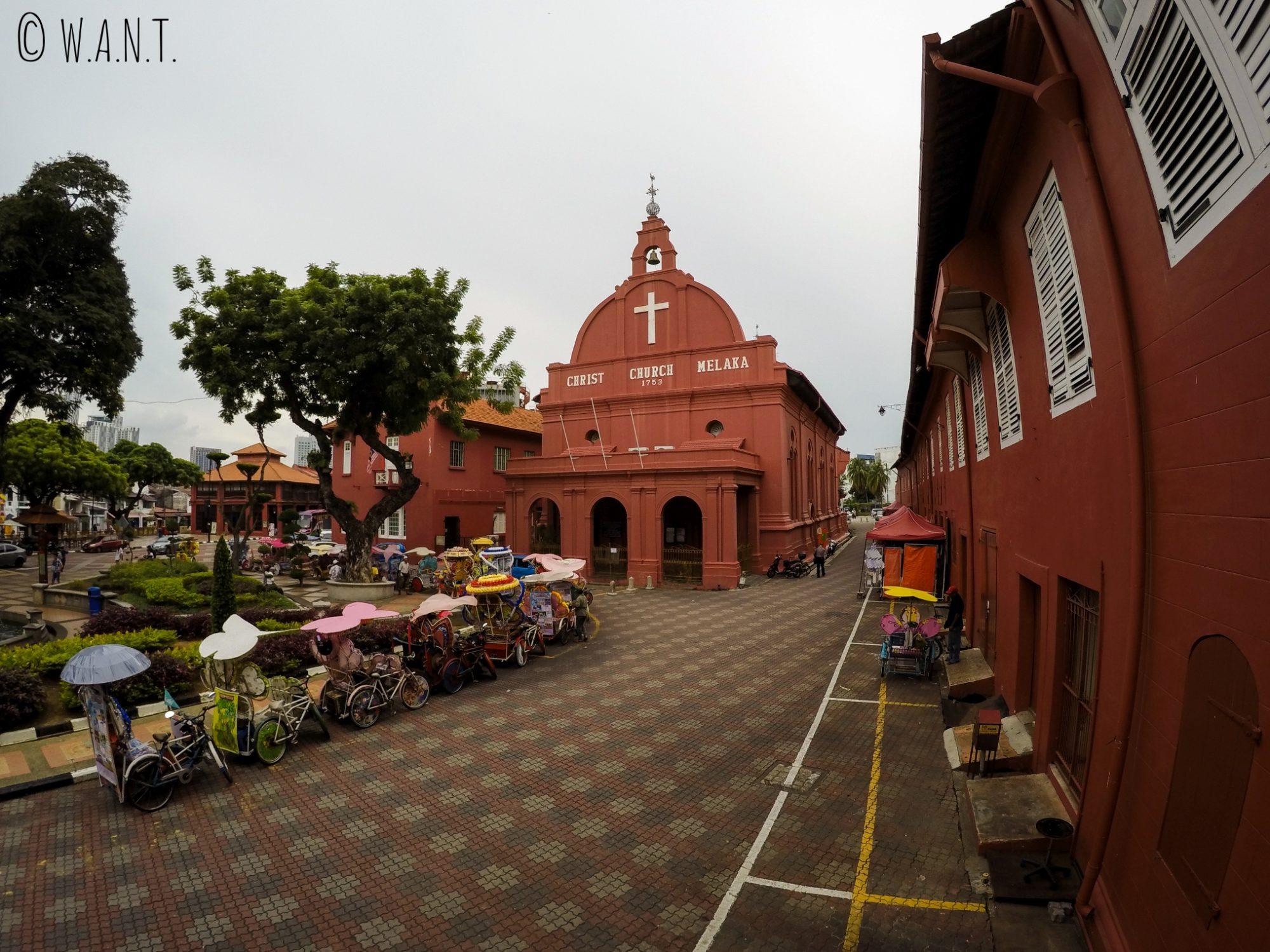 Vue sur Dutch Square et son église Christ Chruch
