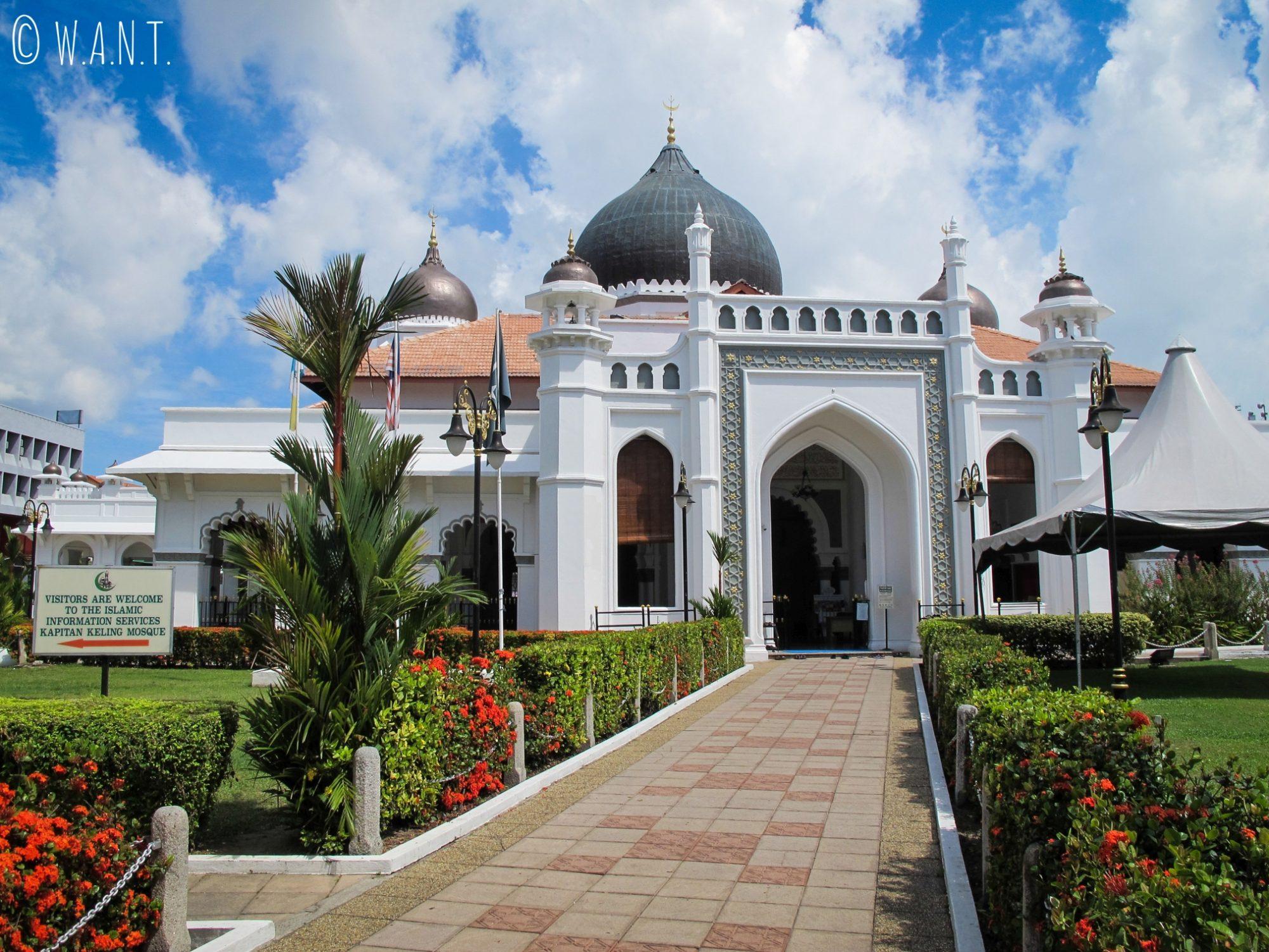 Vue sur la mosquée Kapitan Keling de Georgetown à Penang