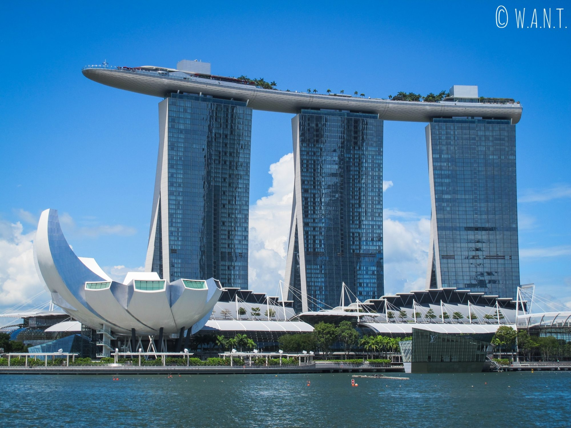 Vue sur le Marina Bay Sands et l'ArtScience Museum de Singapour