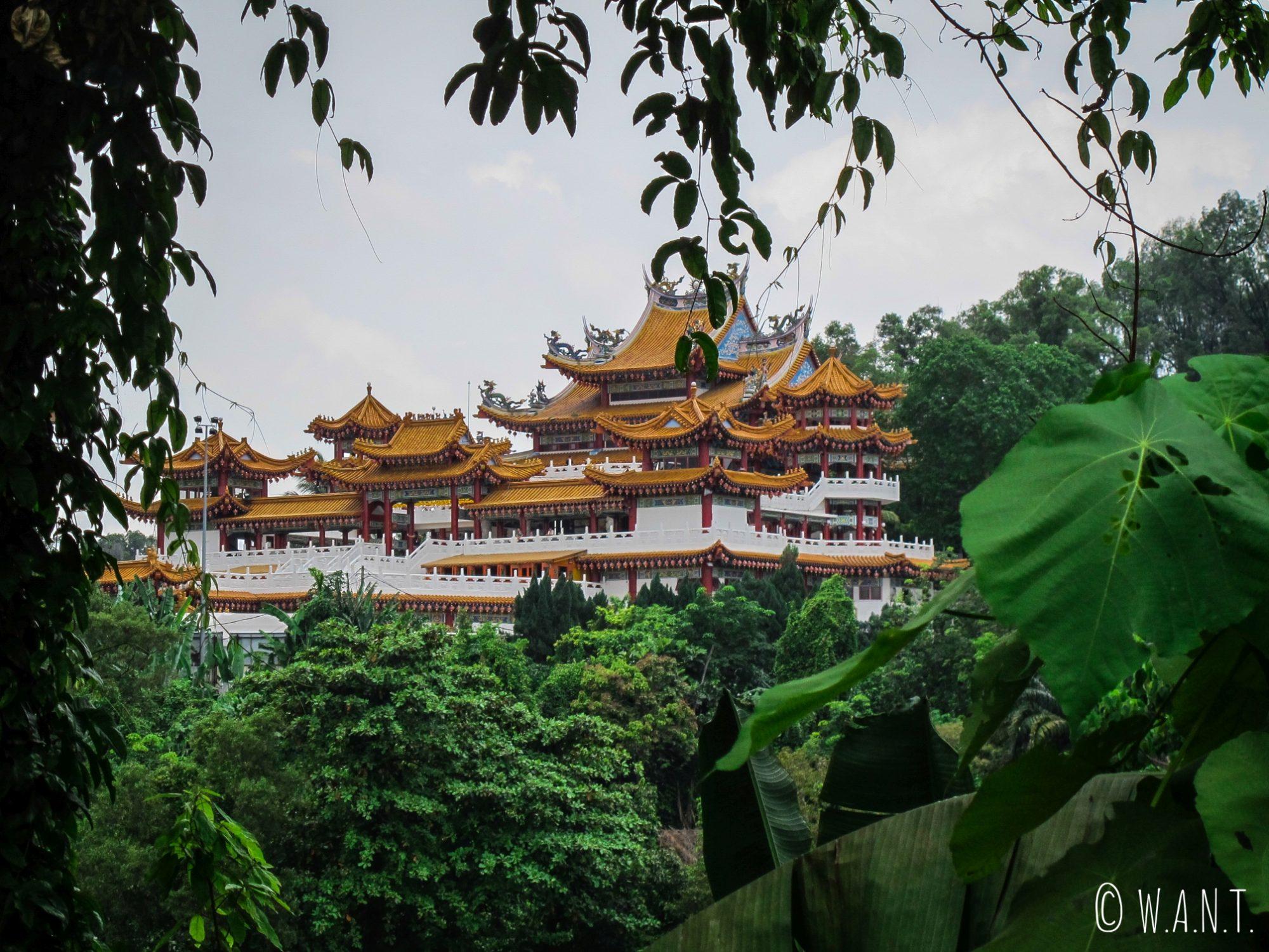 Vue sur le temple chinois Thean Hou Temple de Kuala Lumpur