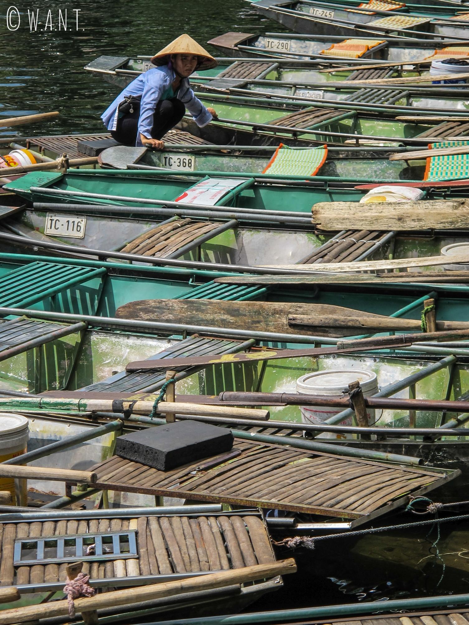 Barques pour se promener dans la Baie d'Ha Long terrestre