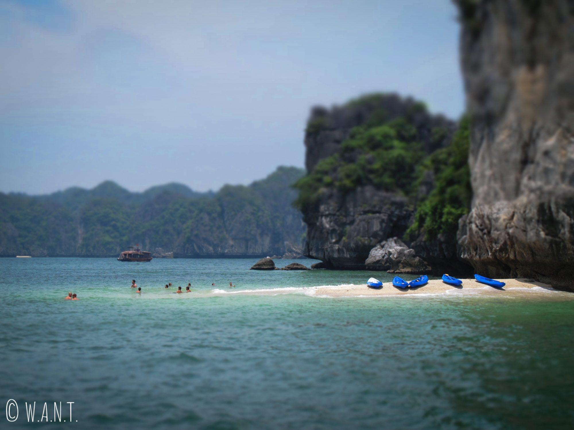 Cadre idyllique pour une baignade dans la Baie de Lan Ha