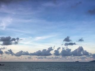 Coucher de soleil depuis la plage d'An Bang à Hoi An