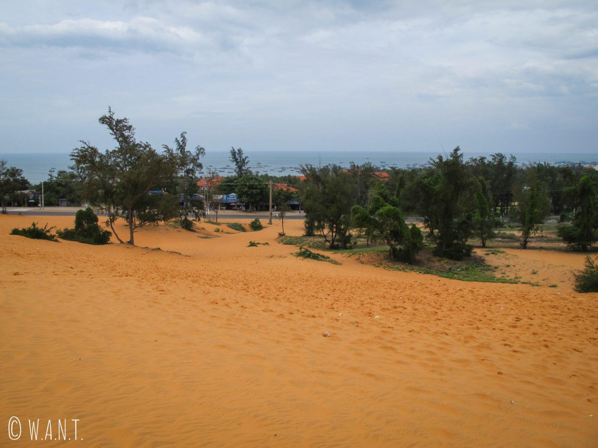 Dans les dunes de sables rouges de Mui Ne sont ensevelis des déchets