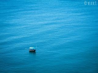 Embarcation sur la baie de Da Nang depuis la presqu'île Son Tra