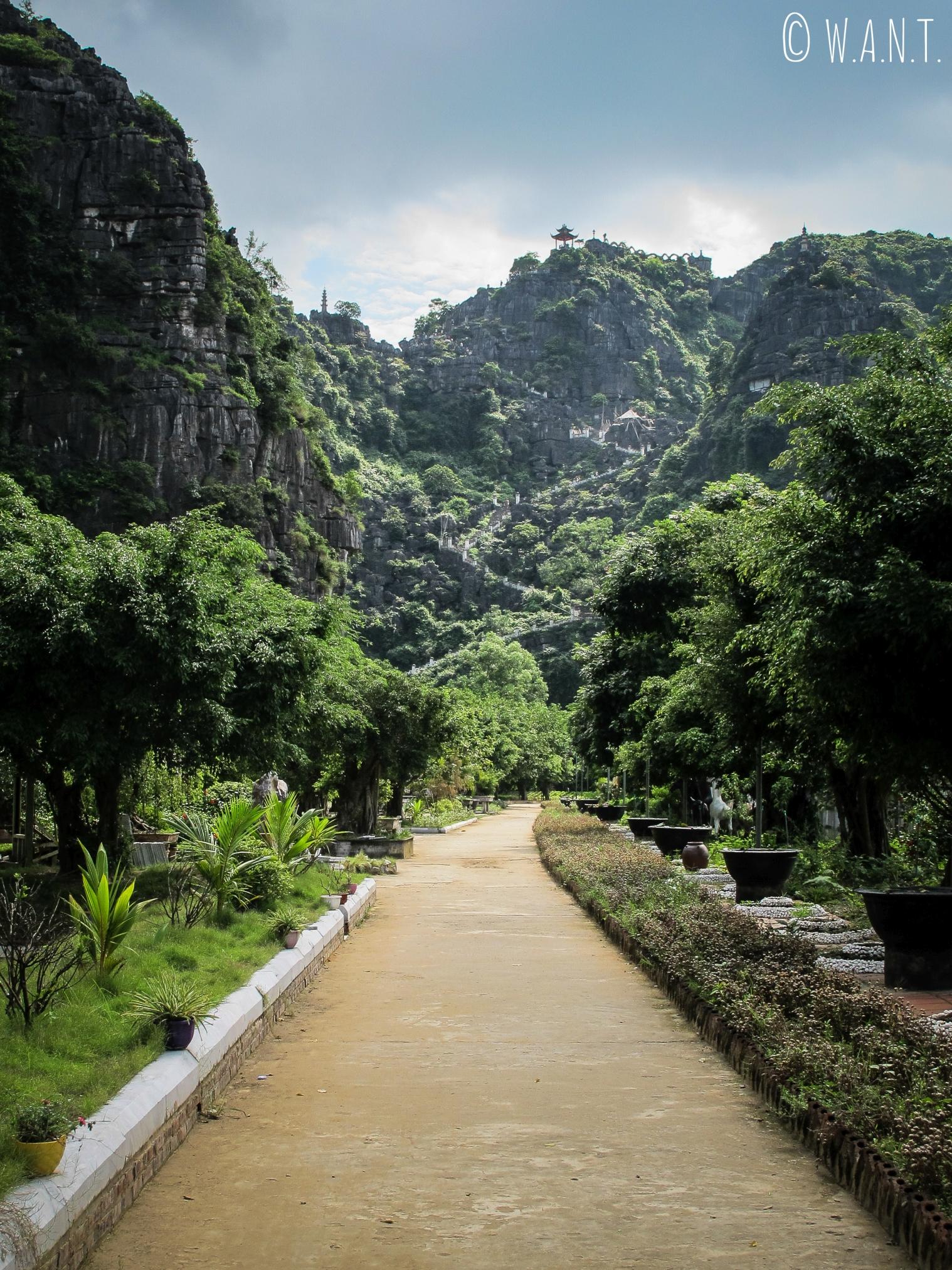 Entrée de Mua Caves à Tam Coc