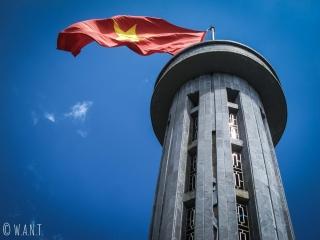 Gros plan sur la Tour du Drapeau de Lung Cu, ville la plus au nord du Vietnam