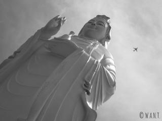 Gros plan sur la statue de Lady Bouddha à Da Nang