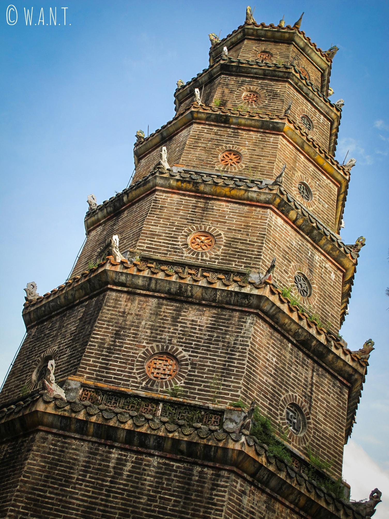 La pagode Thien Mu de Hué est également appelée la pagode de la Dame Céleste