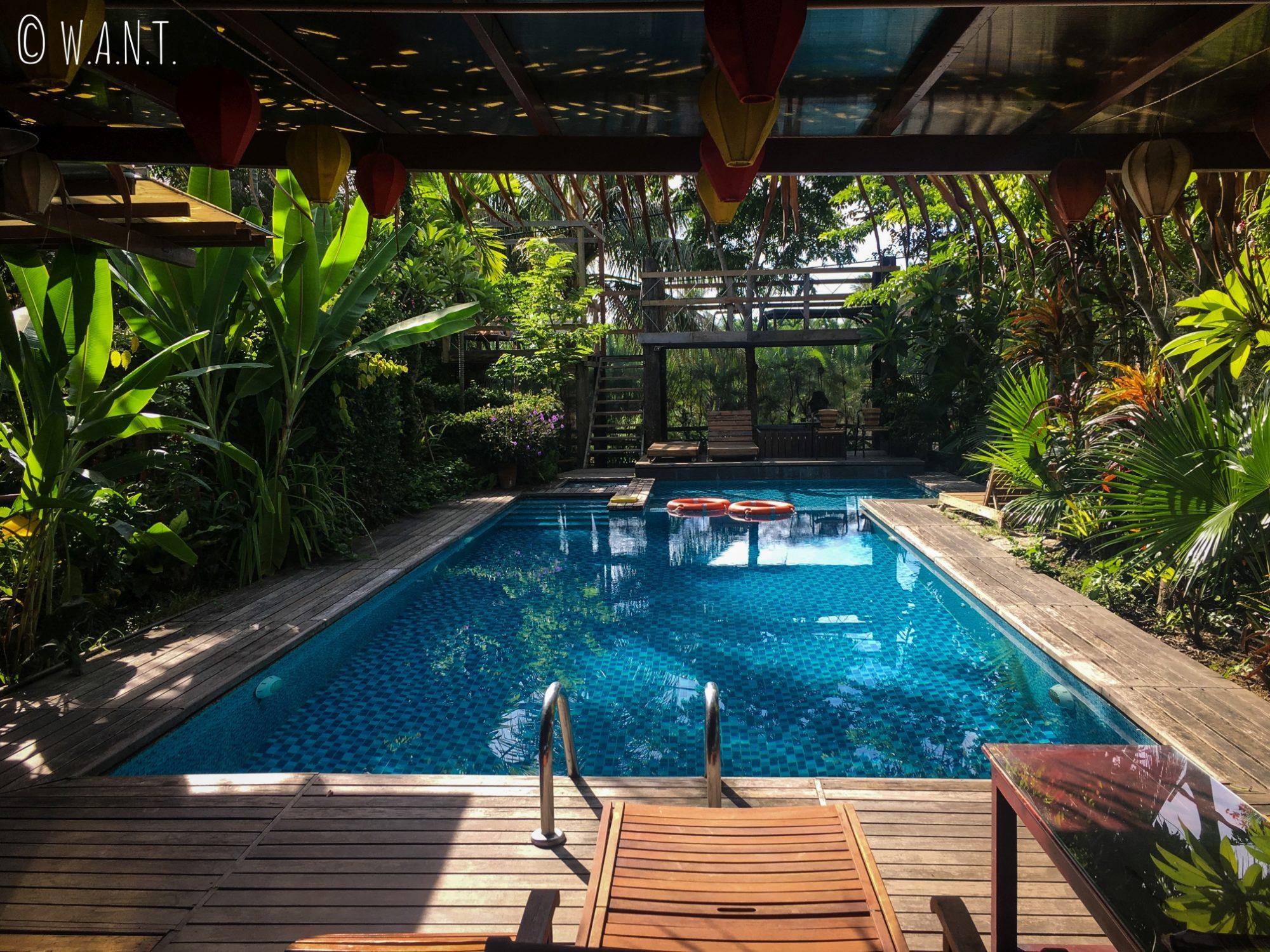 La piscine de notre homestay est un coin de paradis à Hoi An