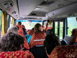 Nous partons en minibus pour notre excursion dans la DMZ