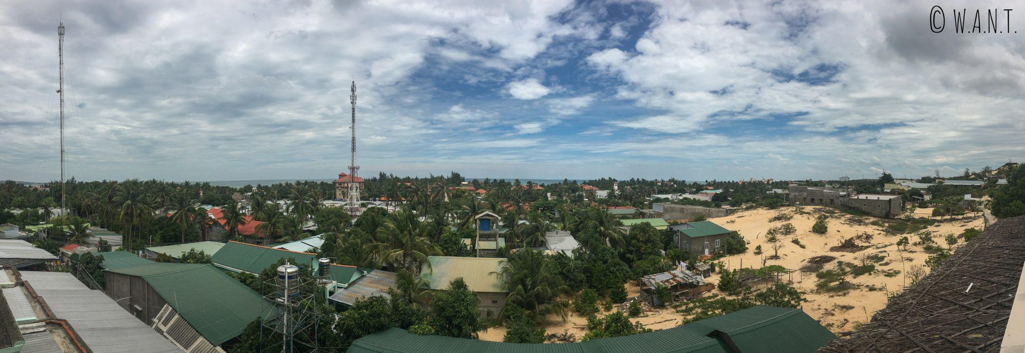Panorama depuis le balcon de notre chambre au Mui Ne Hills Bliss Hotel