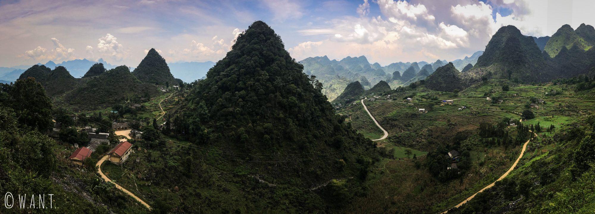Panorama sur la route entre Meo Vac et Yen Minh