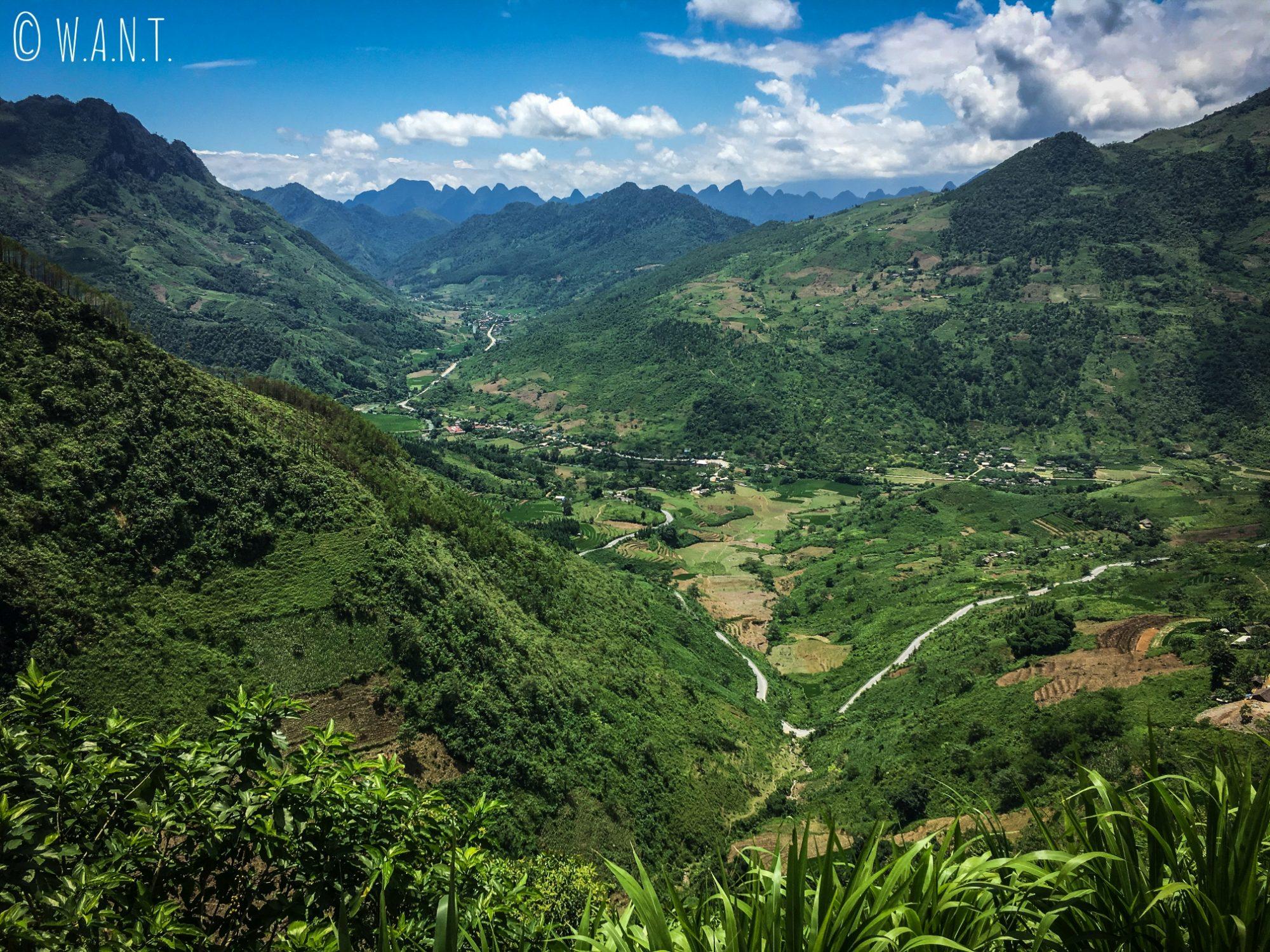 Paysage sur la route du Quan Ba Pass