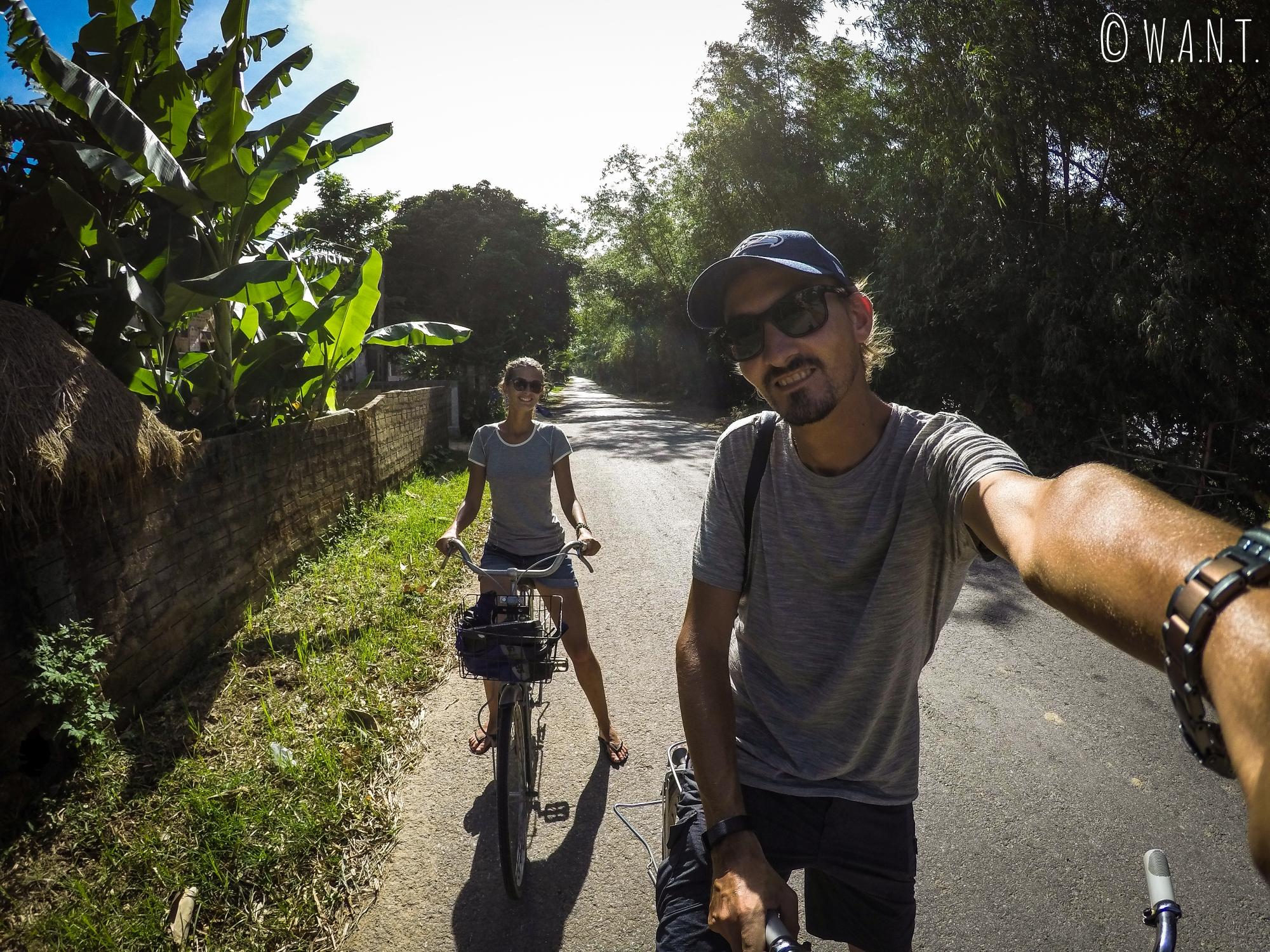 Promenade à vélo dans les environs de Son Trach