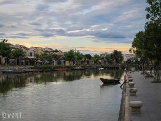 Rivière Thu Bon dans la vielle ville de Hoi An