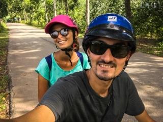 Selfie en scooter en revenant de My Son