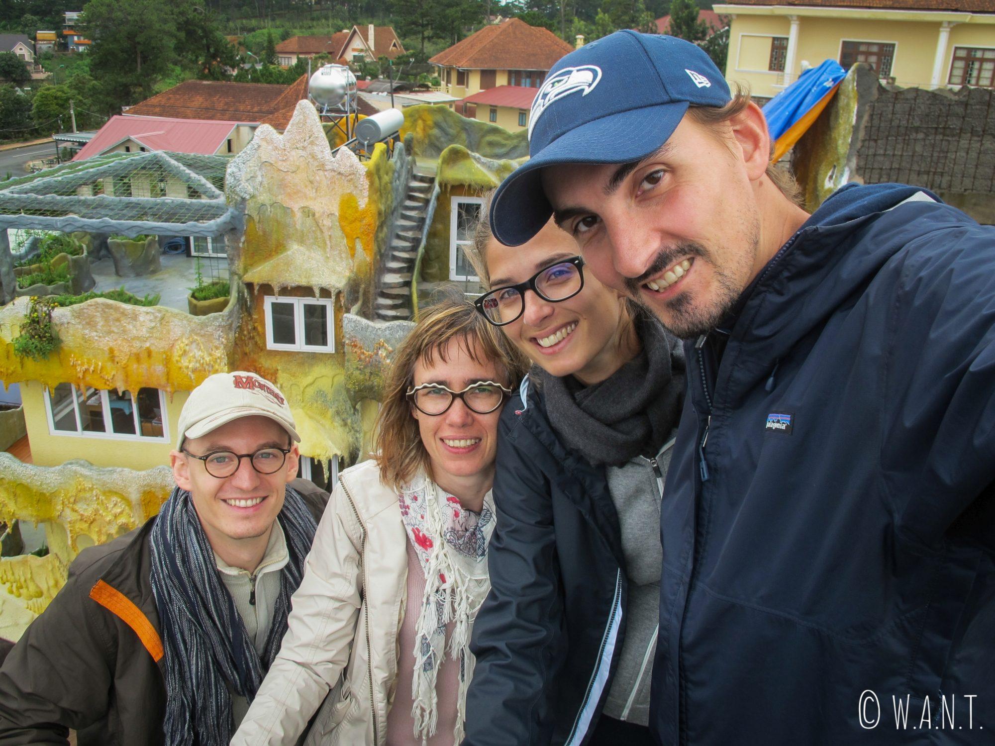 Selfie sur le toit de la Crazy House de Da Lat