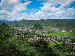 Vue sur la ville de Tam Son