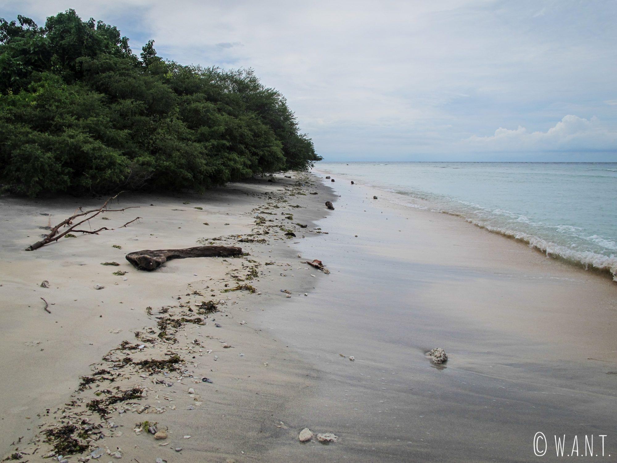 2015 - Plage au nord de Gili Trawangan