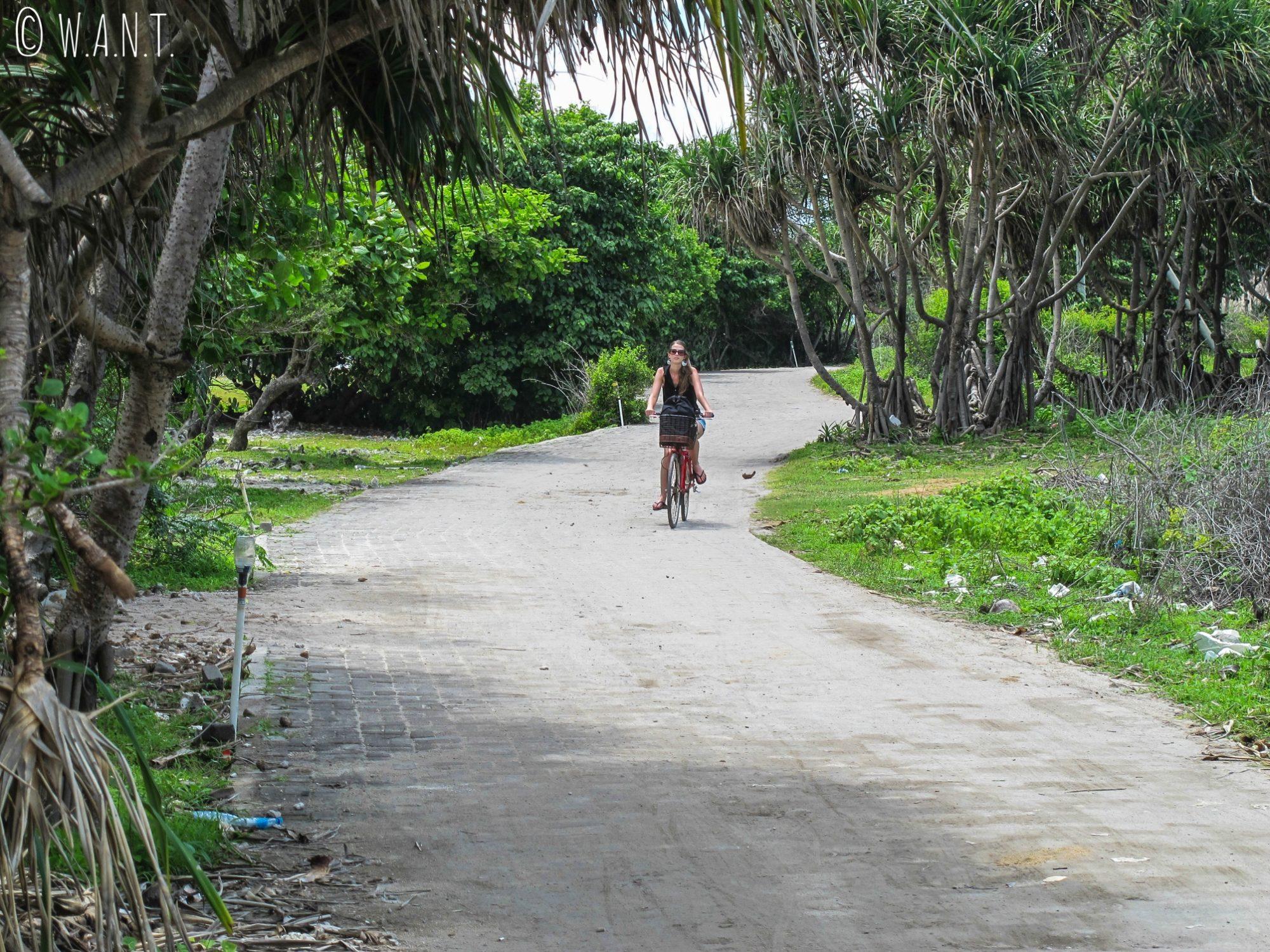 2015 - Promenade sur le sentier à l'ouest de l'île de Gili Trawangan