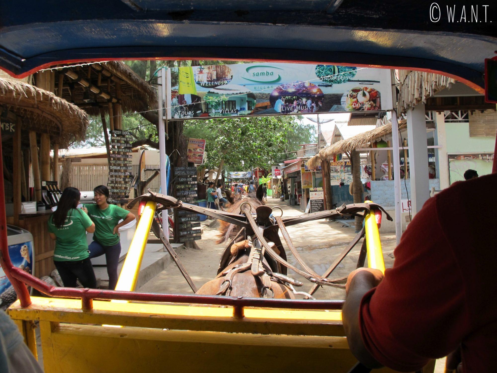 2015 - Rue principale du village de Gili Trawangan