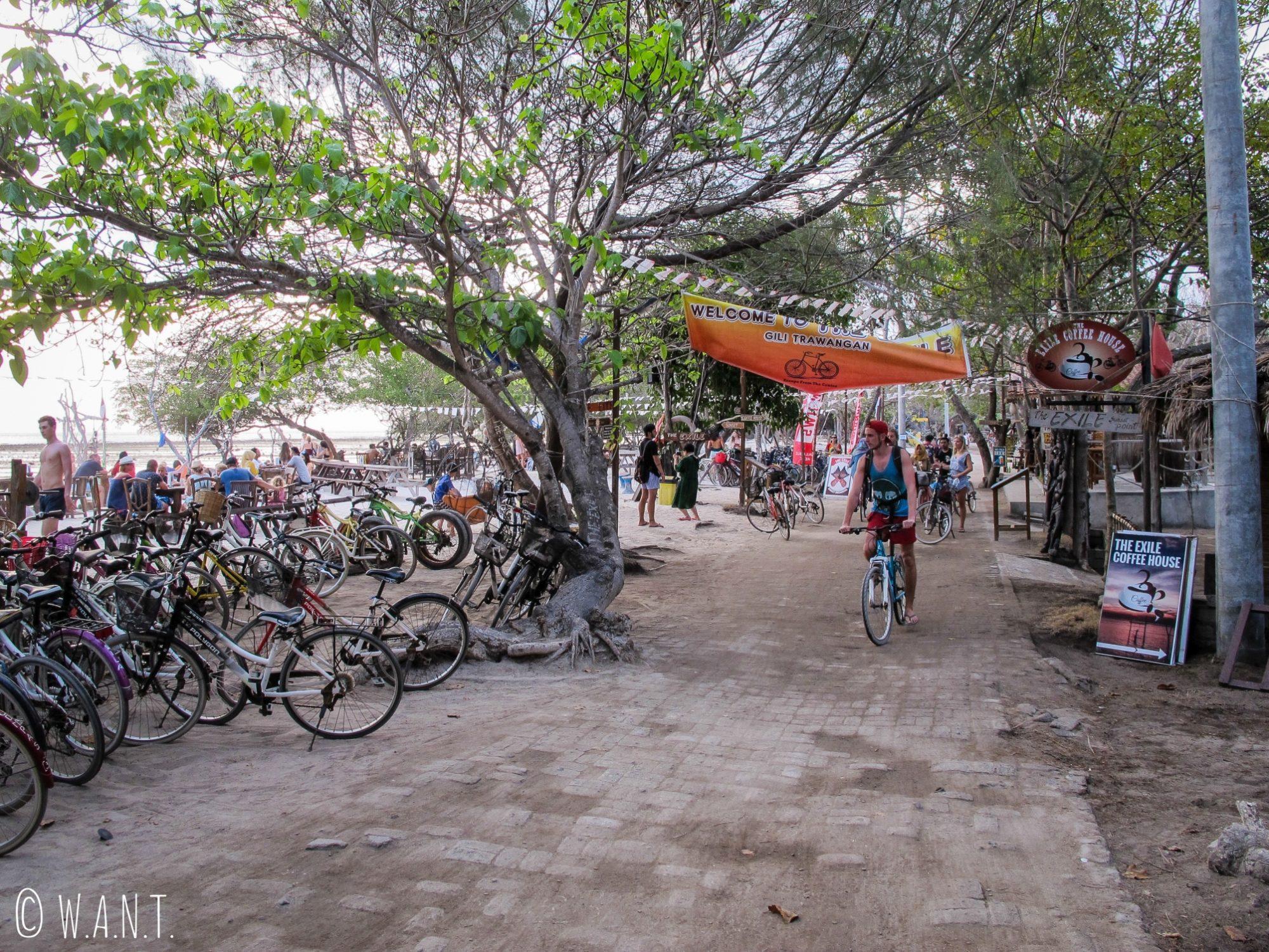 2017 - La végétation a été dévastée à l'ouest de l'île de Gili Trawangan pour créer hôtels et bars