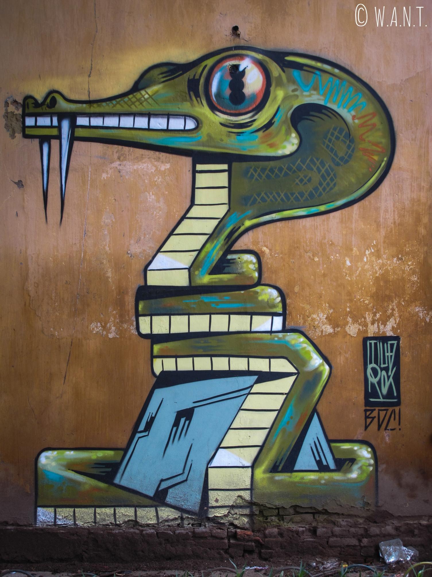Art urbain dans les rues de Hanoï