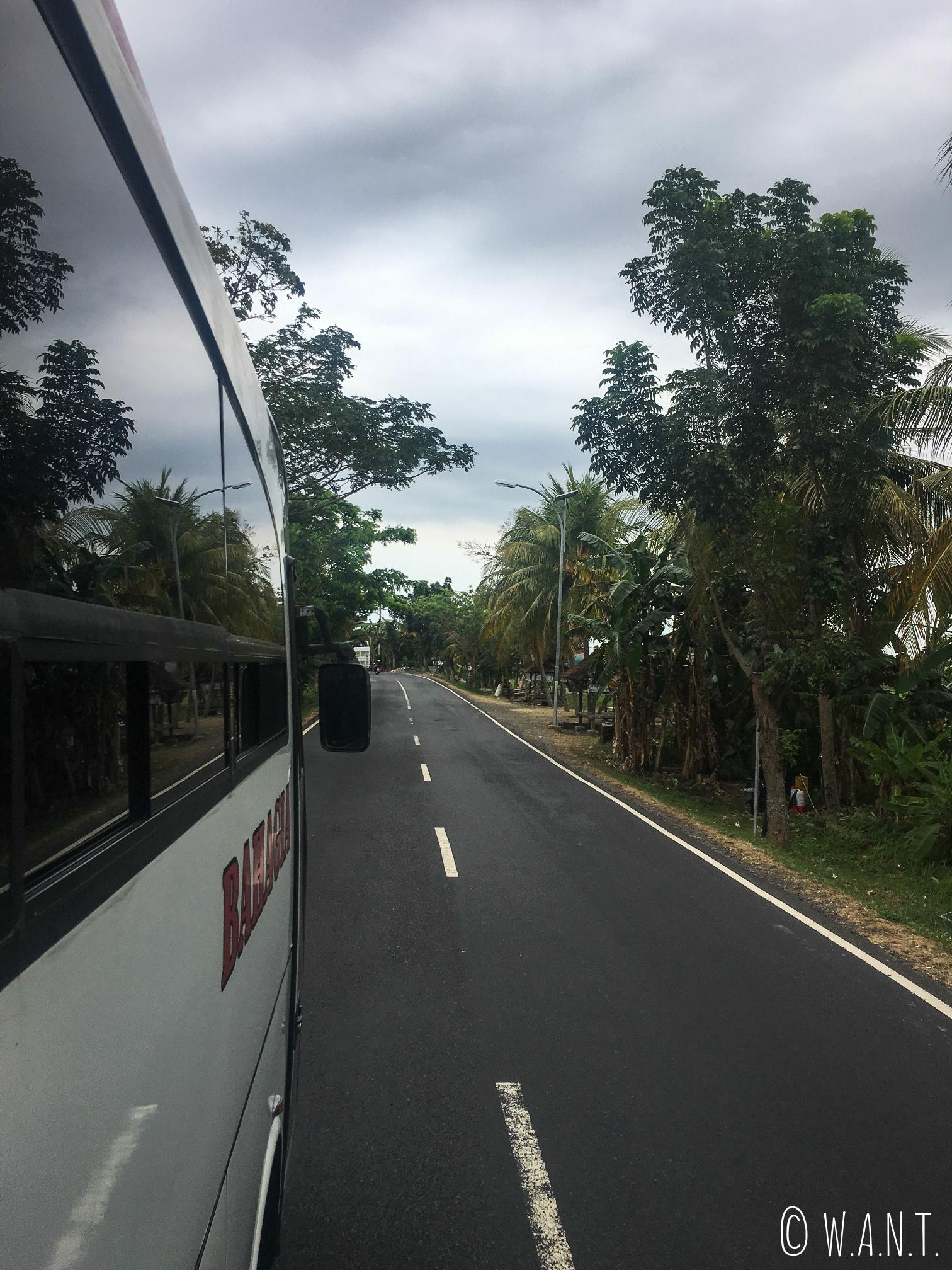 Bus nous menant à Gilimanuk sur l'île de Bali