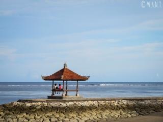 Coucher de soleil depuis la plage de Nusa Dua à Bali