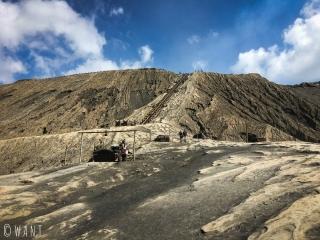 Derniers mètres avant de monter sur le cratère du volcan Bromo