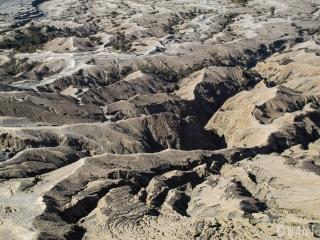 Gros plan sur le flanc du volcan Bromo