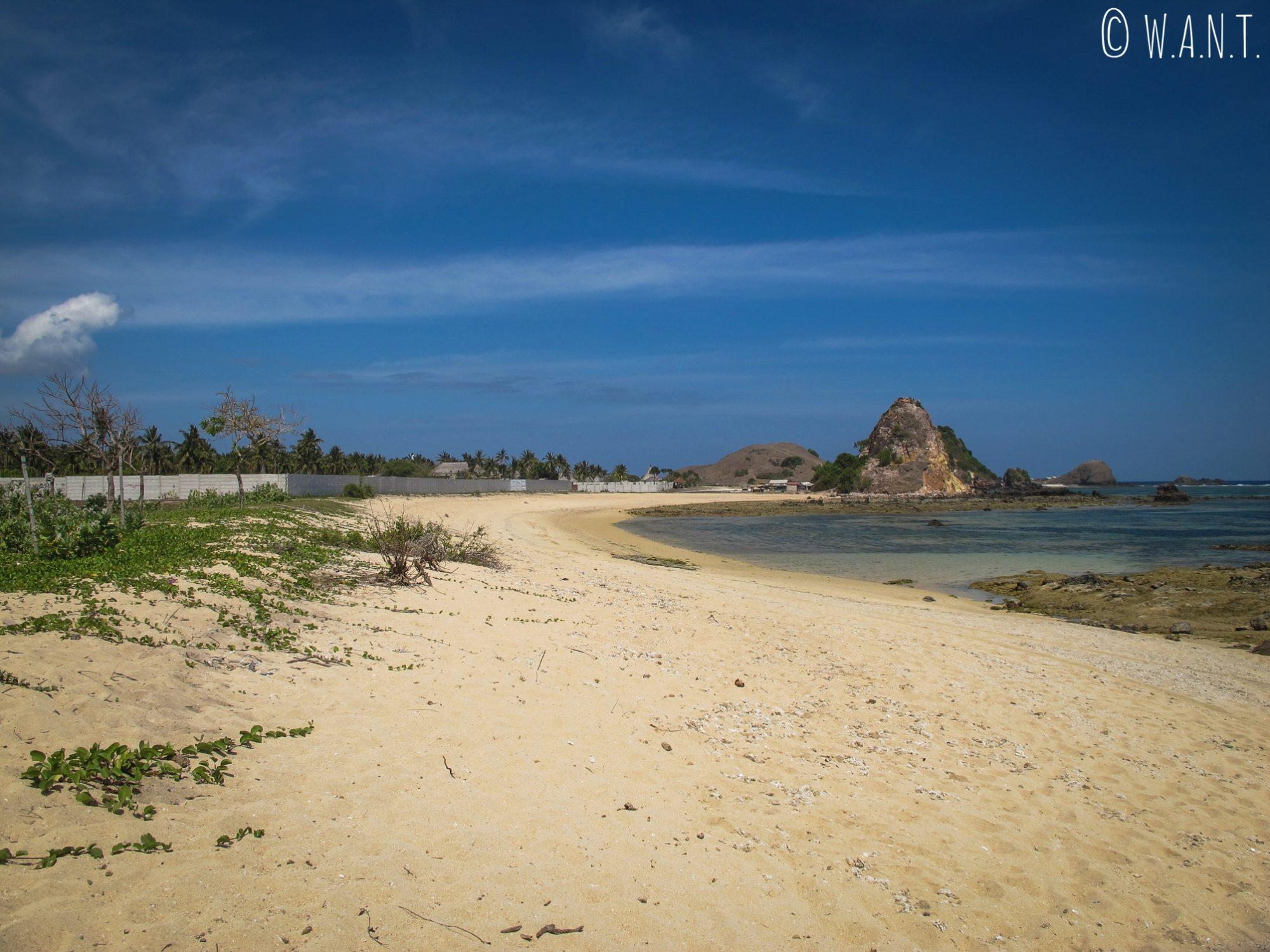 Littoral entre la plage de Kuta Lombok et la plage de Seger Kuta