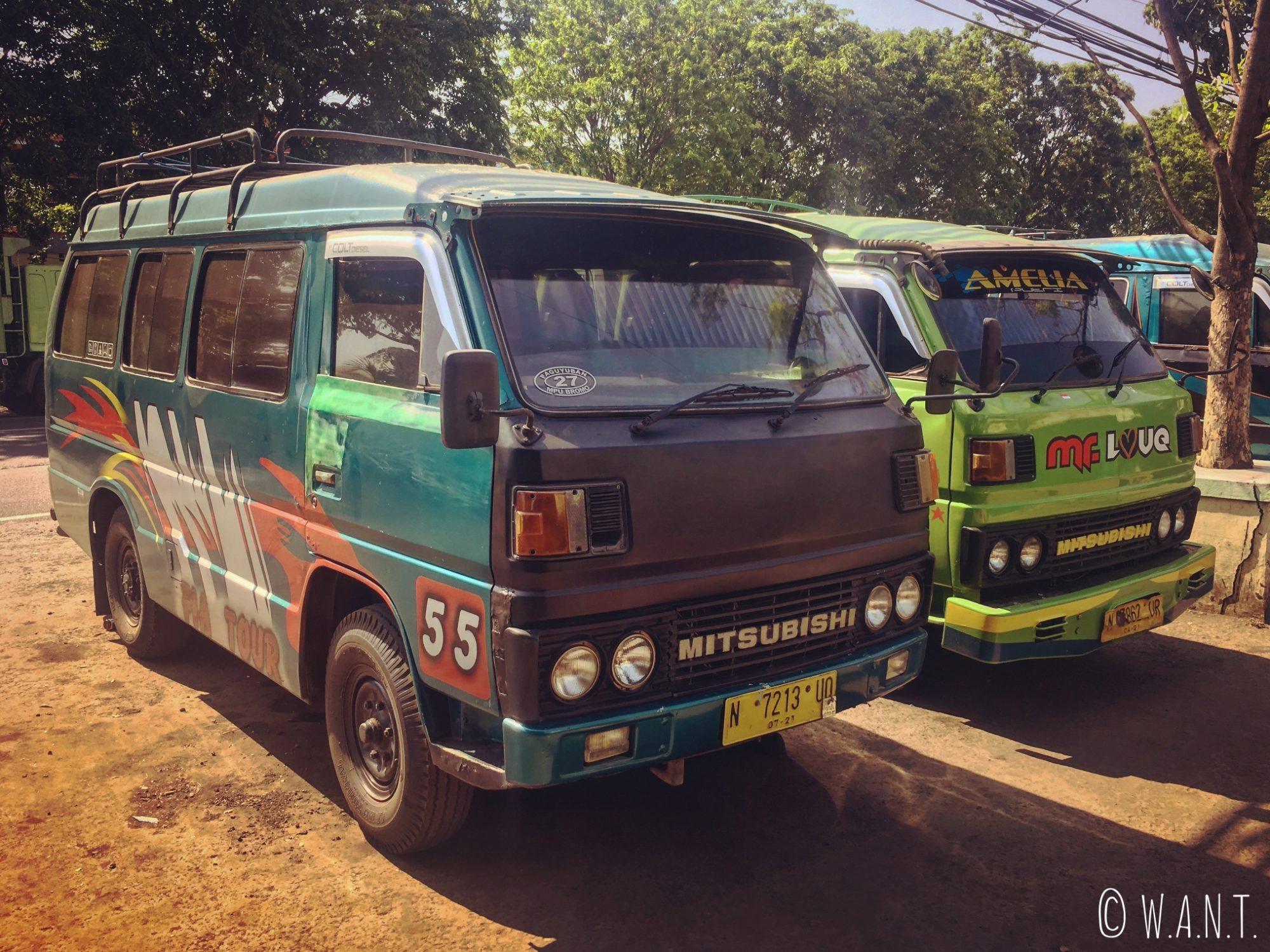 Minibus permettant de rejoindre Cemoro Lawang depuis Probolinggo