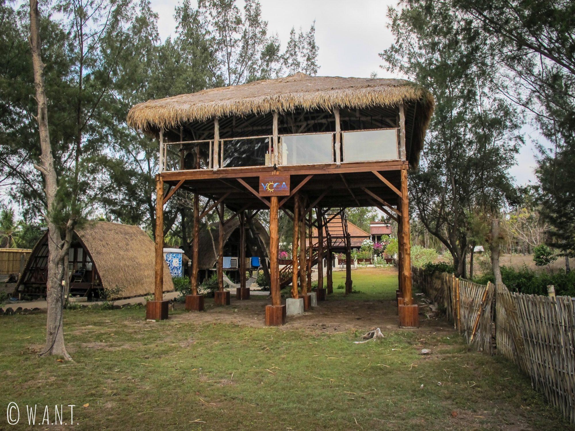 Nouveau centre de yoga construit au nord de l'île de Gili Trawangan