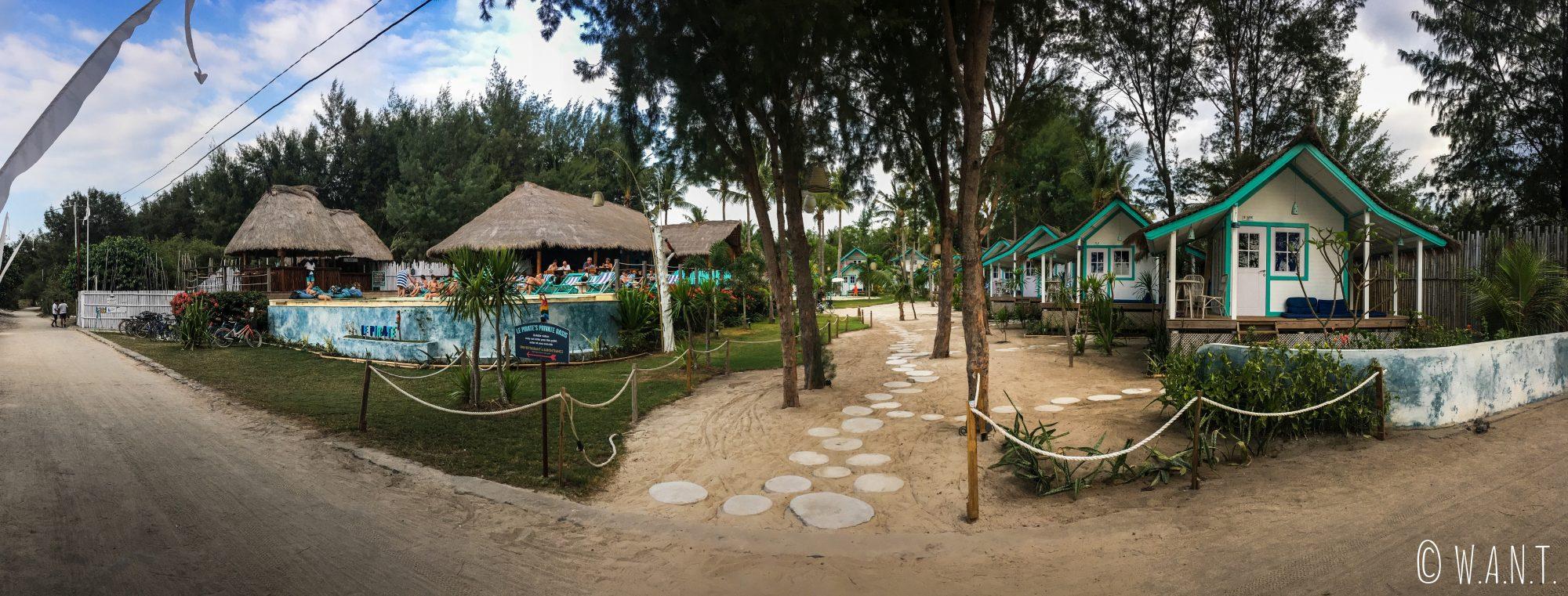 Nouvel hôtel nommé Le Pirate sur Gili Trawangan