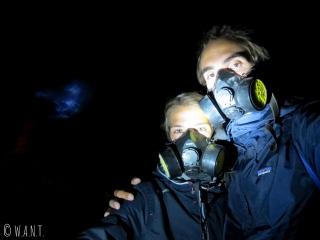 Selfie devant les flammes bleues du Kawah Ijen