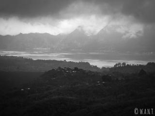 Temps couvert au Mont Batur à Bali