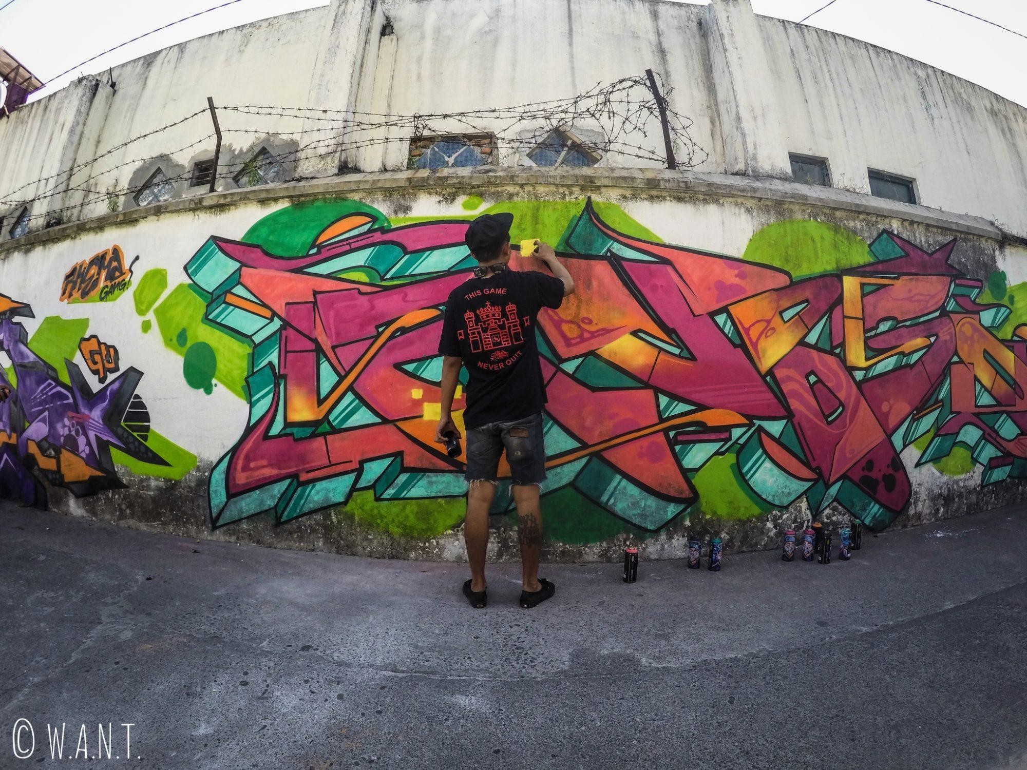 Artiste de rue à Yogyakarta