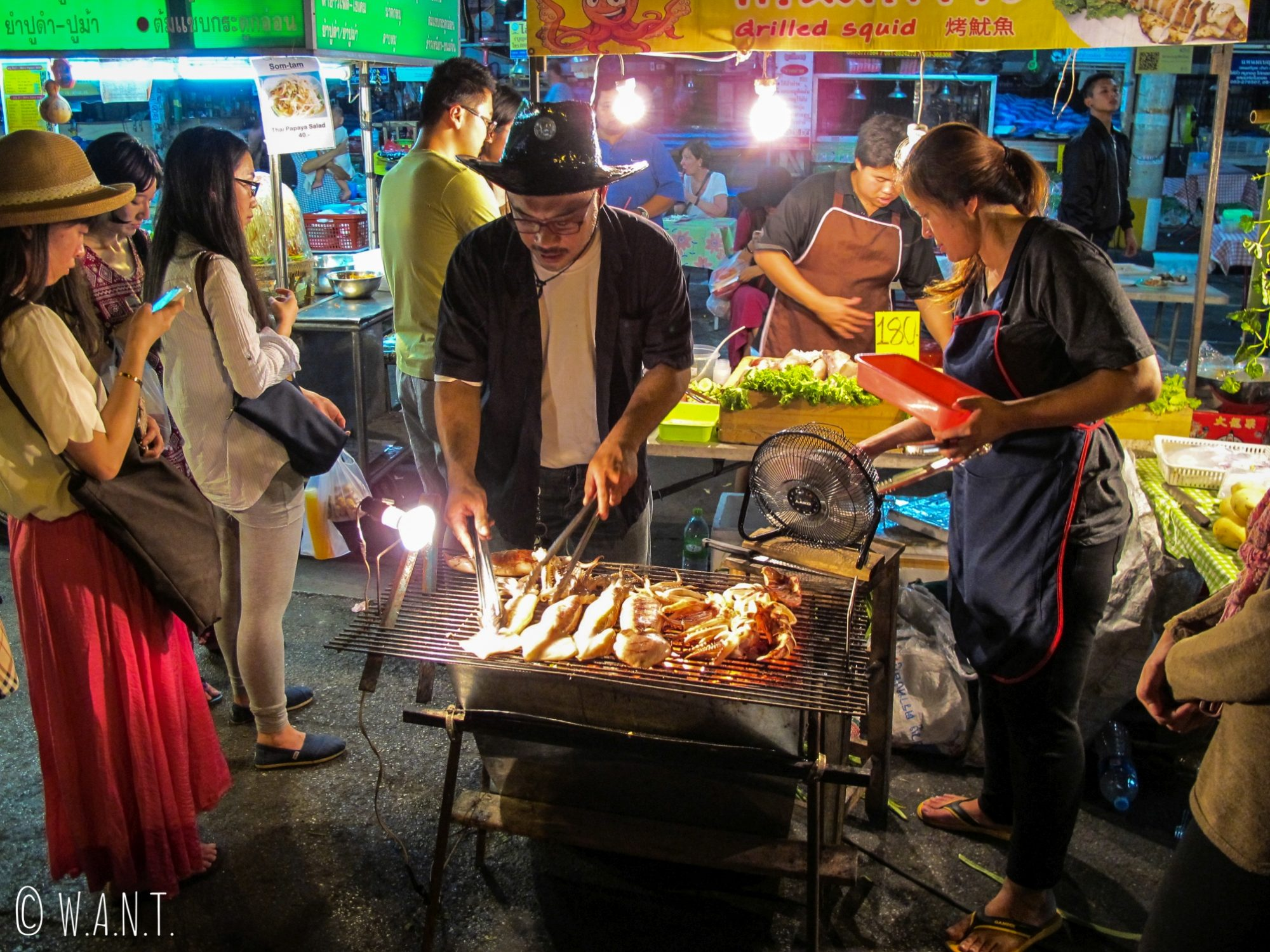 Barbecue au Saturday Night Market de Chiang Mai