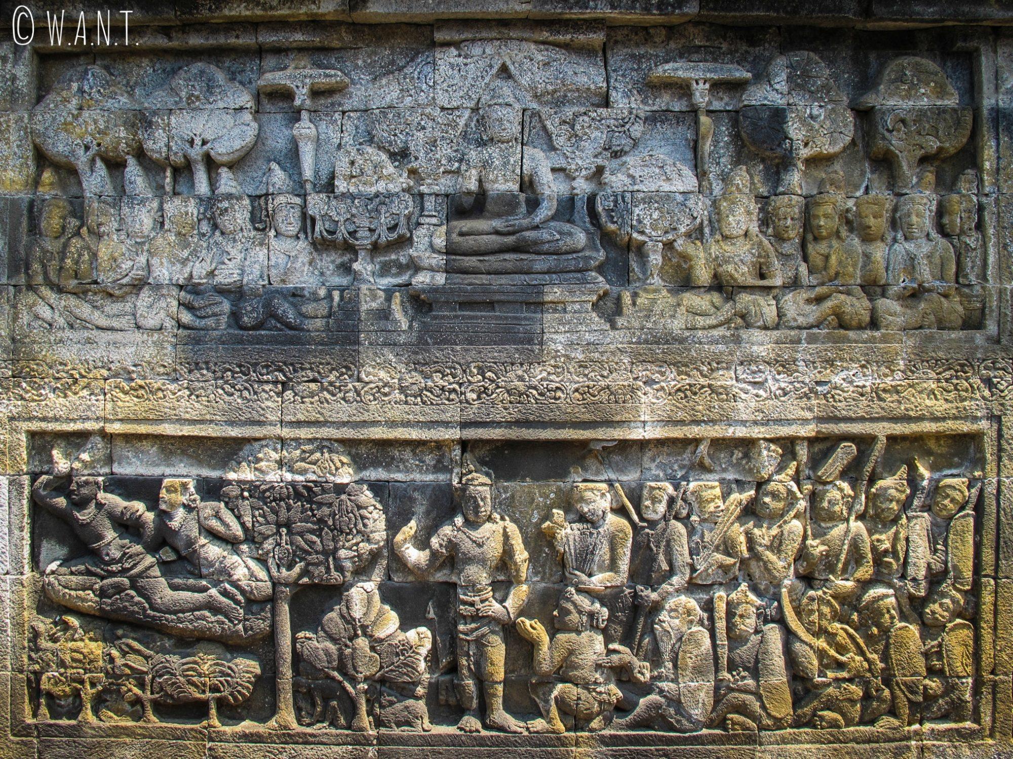 Bas-relief du temple de Borobudur