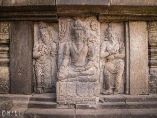 Bas-relief du temple de Prambanan