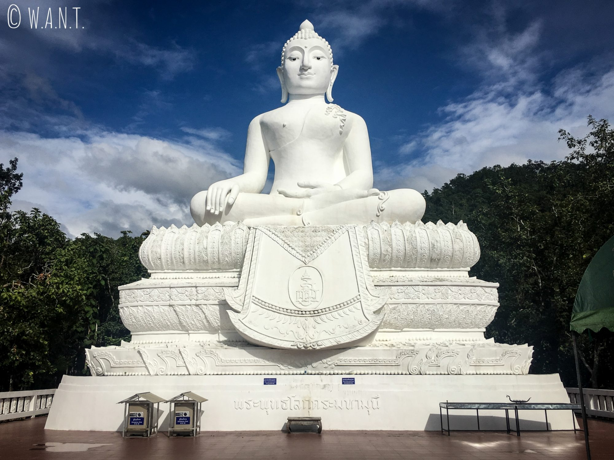 Bouddha blanc du Wat Phra That Mae Yen de Pai