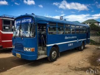 Bus local nous permettant de rejoindre le White Temple de Chiang Rai