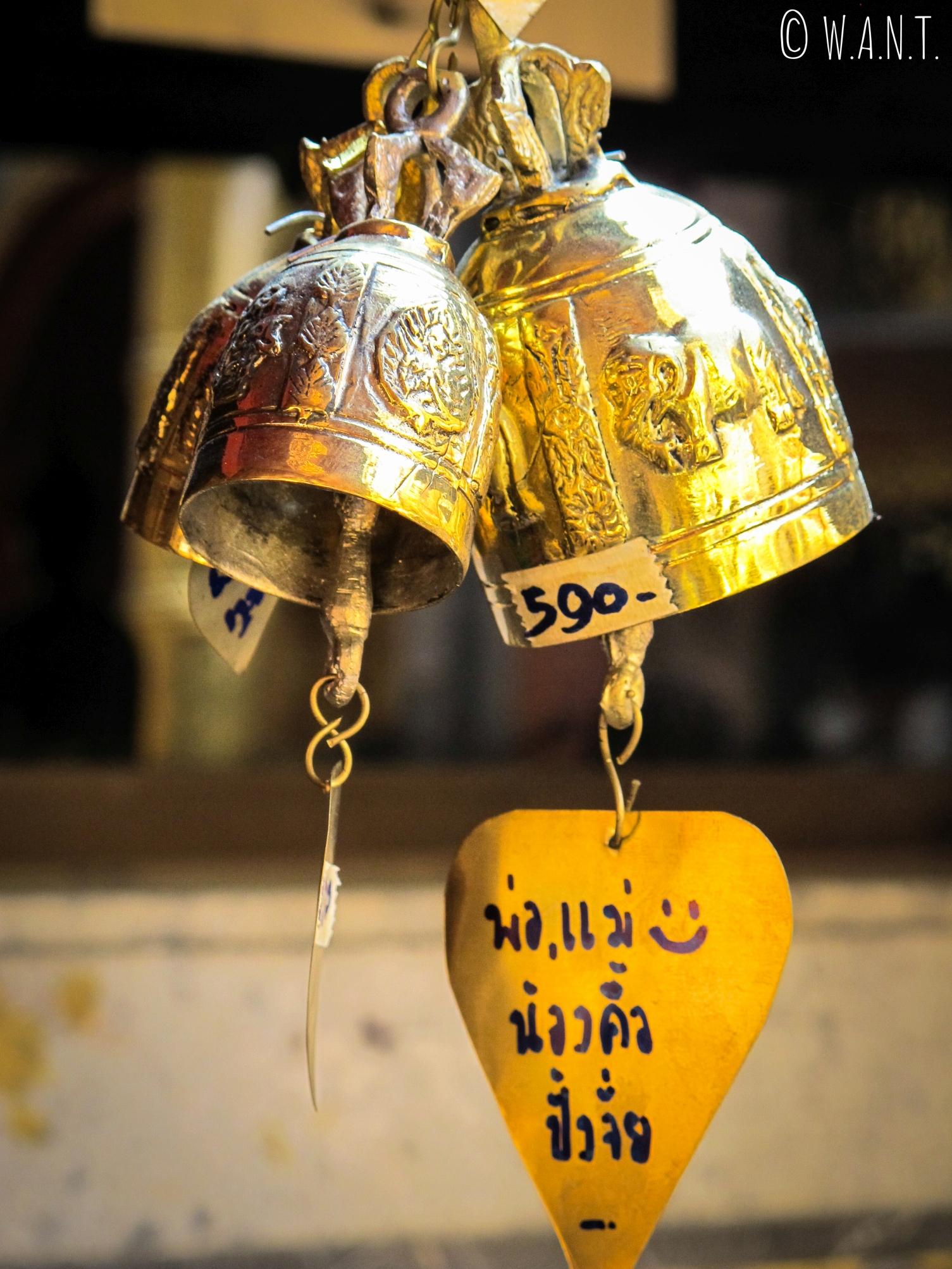Cloche bouddhiste au Wat Phrathat Doi Suthep de Chiang Mai