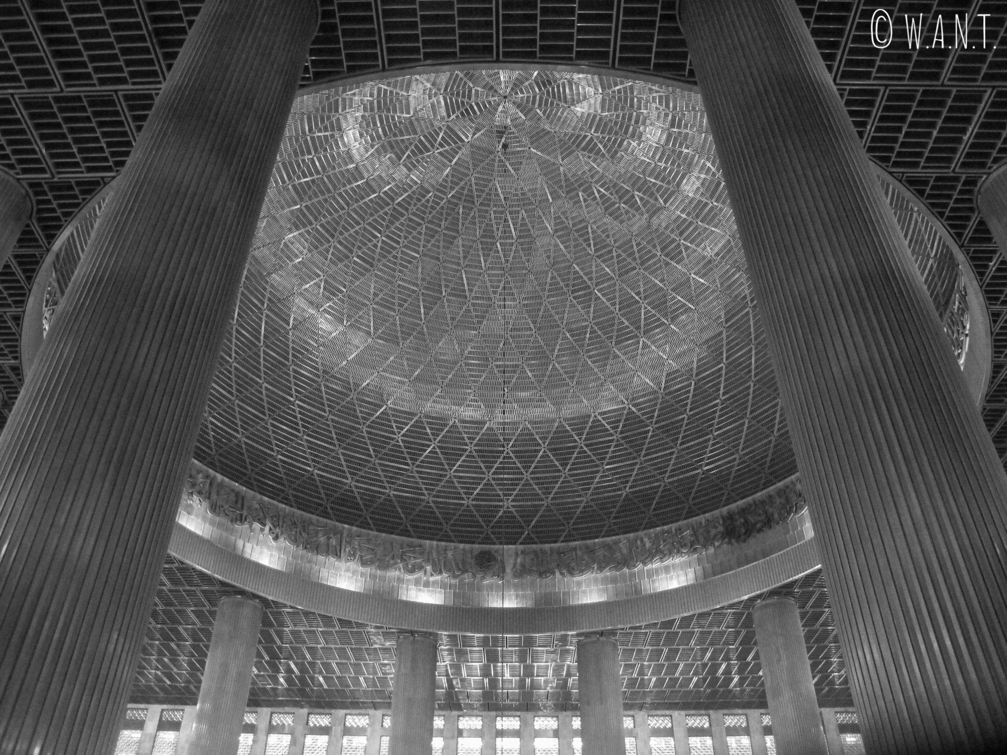 Dôme de la Mosquée Istiqlal à Jakarta