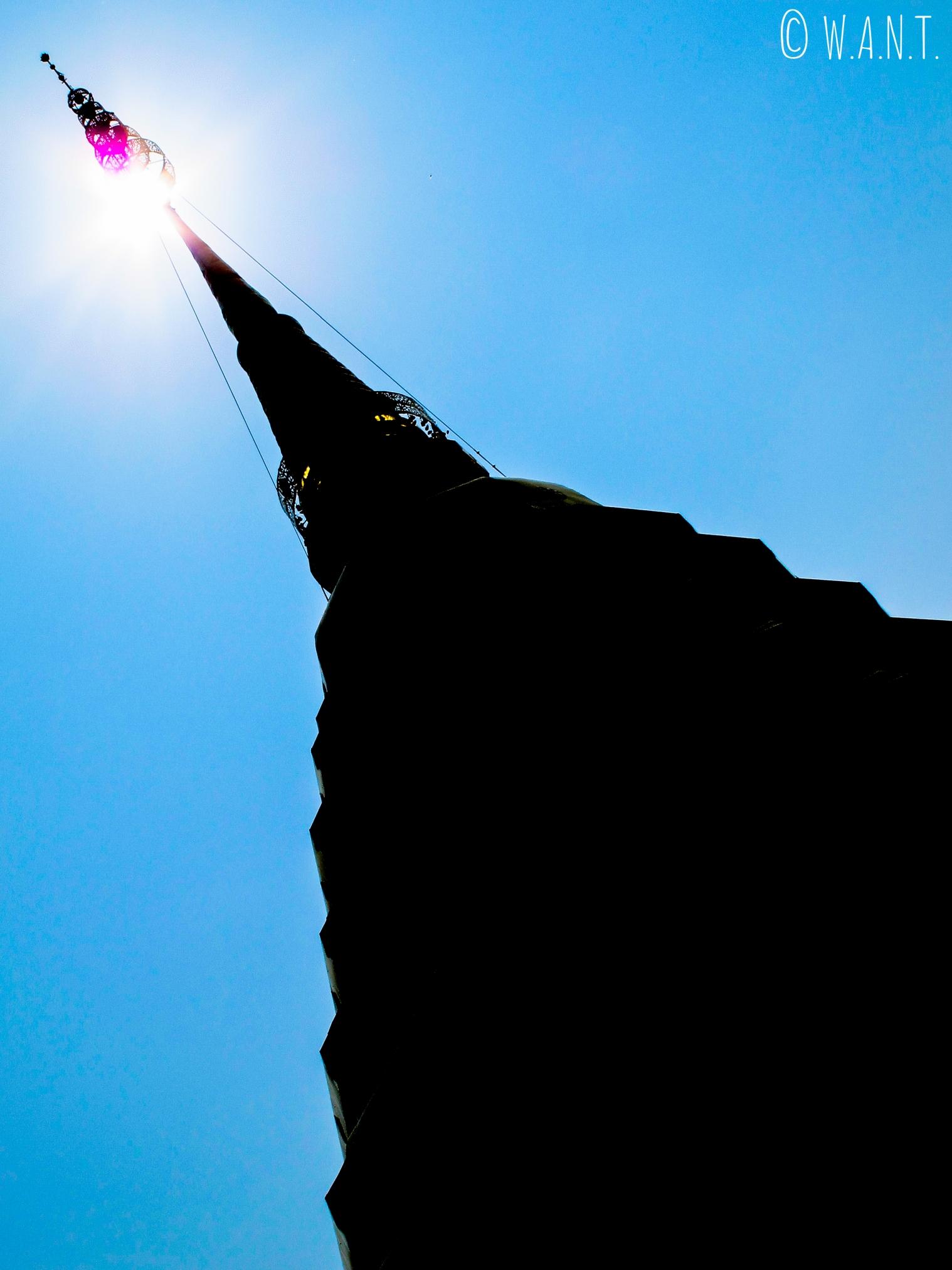Gros plan sur le stupa du Wat Phrathat Doi Suthep à Chiang Mai