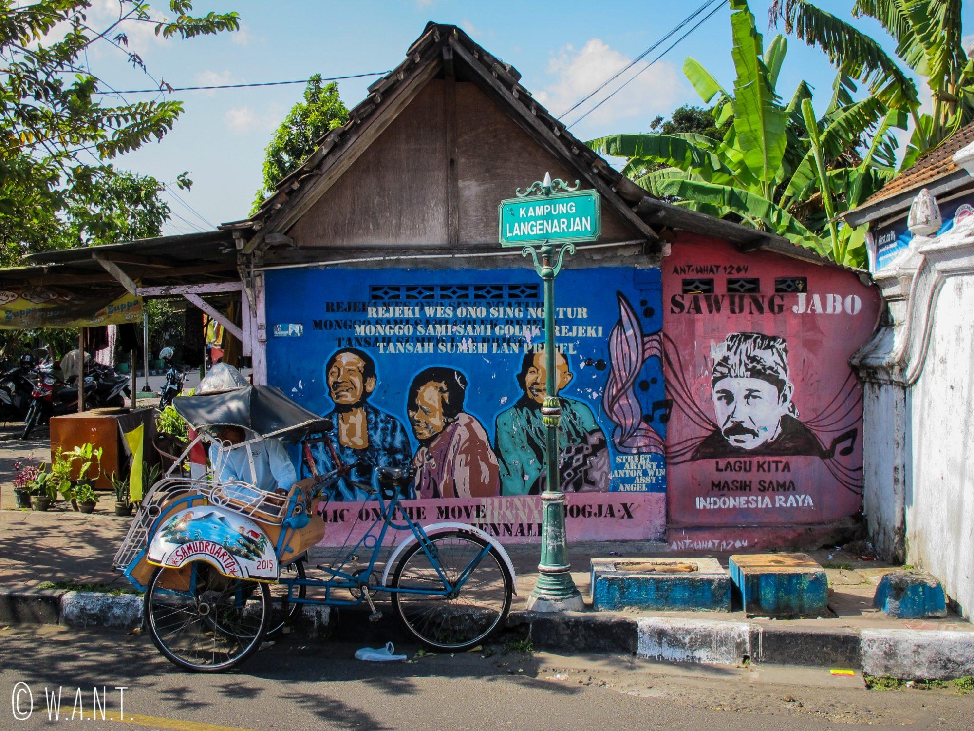 L'art de rue est très présent dans les rues de Yogyakarta