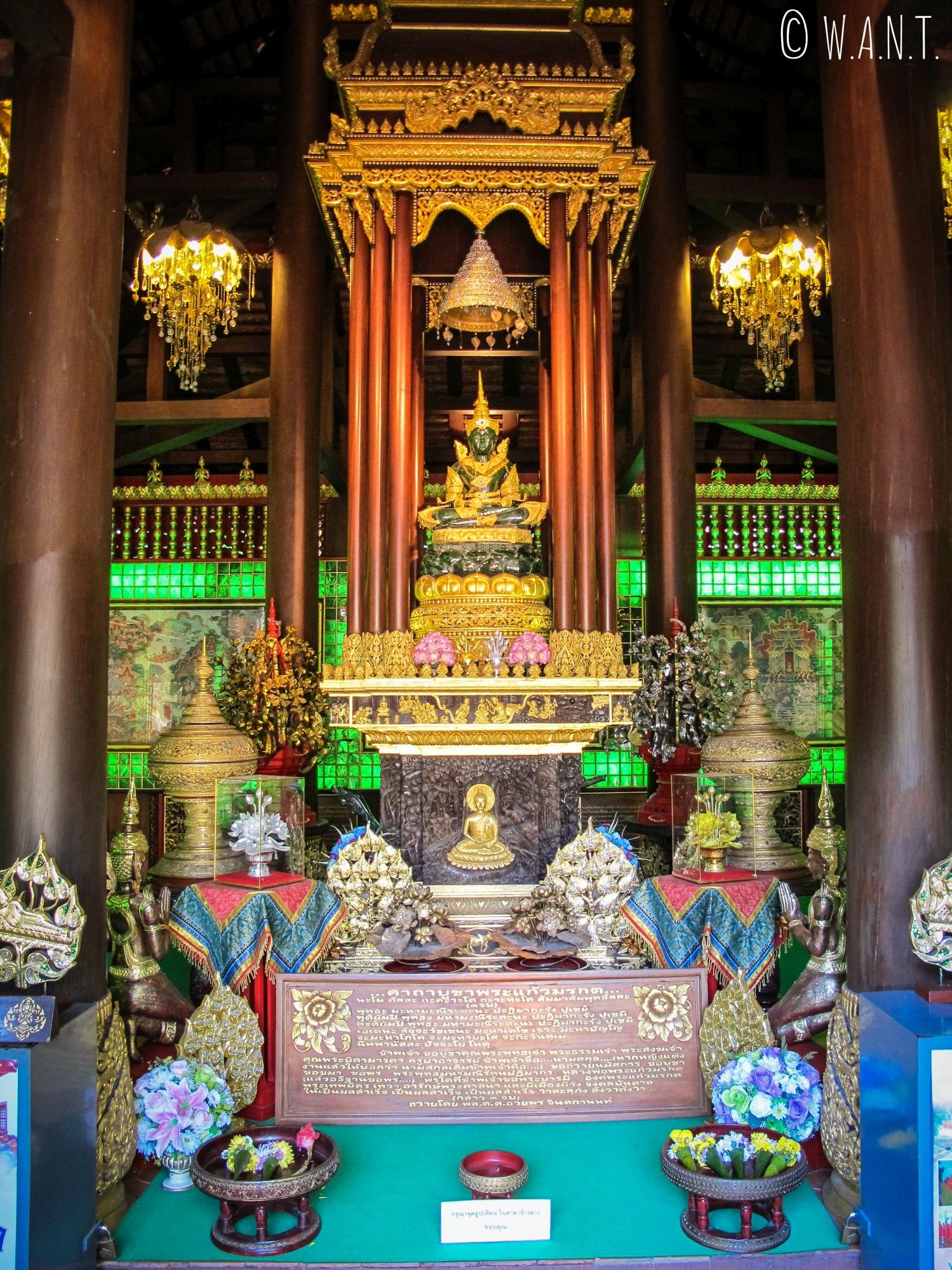 Le Wat Phra Kaeo de Chiang Rai abrite un Bouddha de jade